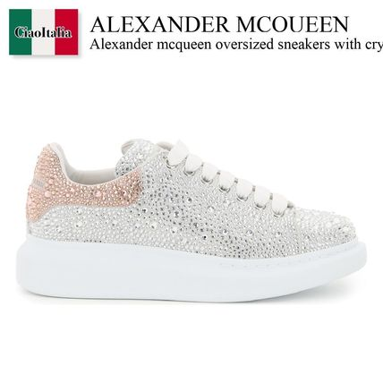 Alexander mcqueen oversized sneakers with crystals