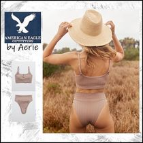 American Eagle Outfitters(アメリカンイーグル) ビキニ 【American Eagle】Aerie Striped  LonglineScoop ビキニ トップ