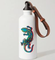 ★LOEWE★Lizard water bottle in aluminium and calfskin