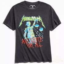 Urban Outfitters(アーバンアウトフィッターズ) Tシャツ・カットソー Metallica Justice For All Tee Tシャツ 送料込