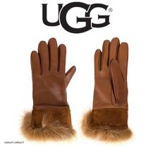 UGG LEATHER SUEDE CUFF TECH グローブ