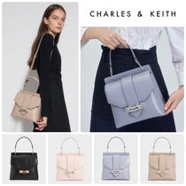 ★CHARLES&KEITH★Metallic Accent Top Handle Bag/送料込