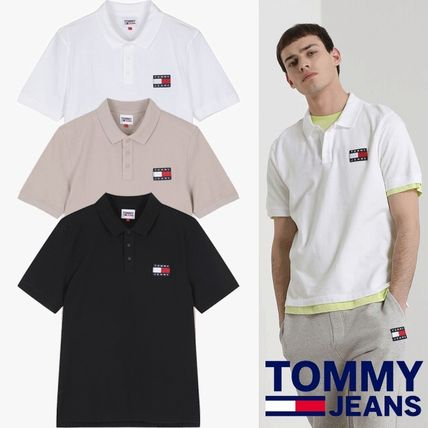 Tommy Hilfiger★COTTON BADGE LOGO POLO T-SHIRTS
