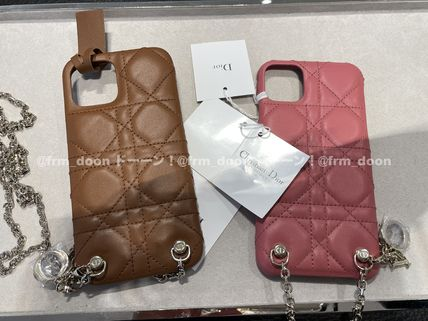 【Dior】2021SS LADY DIOR IPHONE 12 & 12 PROチェーン付ケース