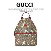 関税負担なし☆Gucci KIDS GG SUPREME SPACE PRINT BACKPACK