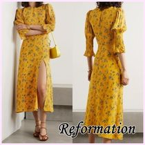 Reformation*Lily Collins着用*花柄 ジョーゼット ミディドレス*
