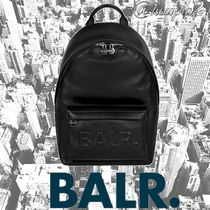 【BALR.】THE LEATHER PETITE BACKPACK BLACK