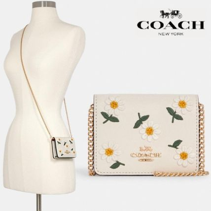 【COACH】Mini Wallet With Daisy Embroidery デイジー柄 C3058