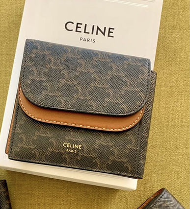 【CELINE】Double Flap Origami Wallet トリオンフキャンバス