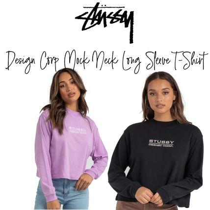 【STUSSY】Design Corp Mock Neck Long Sleeve T-Shirt