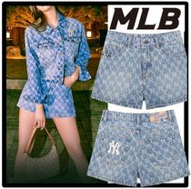 ★関税込★MLB KOREA★MONOGRAM DENIM SHORT PANT.S★パンツ★