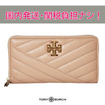 国内発送/即発【Tory Burch】Kira Chevron  長財布 Devon Sand