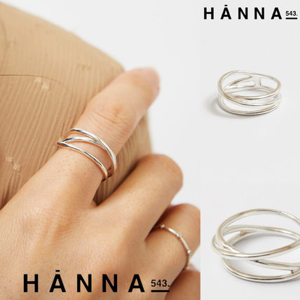 [HANNA543] R506 Silver Unbalanced Wire Ring★BTS RM 着用