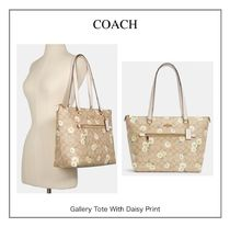 Sale!【COACH】Gallery Tote With Daisy Print☆
