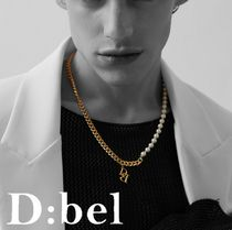 *D:bel* DBEL pearl chain necklace (gold)