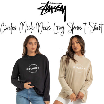 【STUSSY】Circles Mock Neck Long Sleeve T-Shirt 長袖Tシャツ