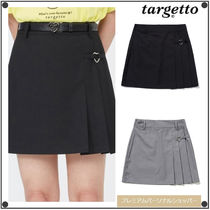 TARGETTO SEOULのHEART RING PLEATS MINI SKIRT 全2色