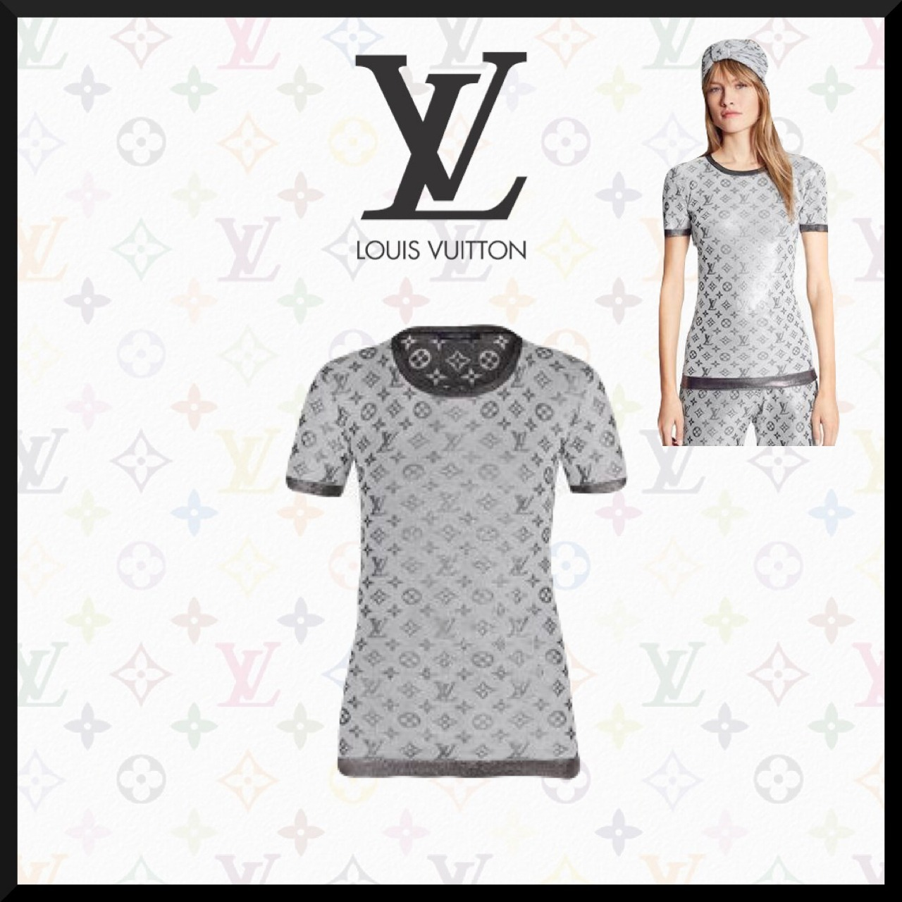 【Louis Vuitton】シャイニーモノグラム◆ニットトップ (Louis Vuitton/Tシャツ・カットソー) 1A8RQK
