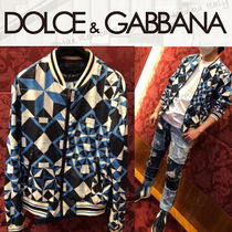 21SS【Dolce&Gabbana】ブルゾン/ナイロン/マヨリカプリント
