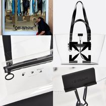 【OFF WHITE 】ARROW SMALL PVC TOTE BAG*