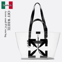 Off White Arrow small PVC tote bag