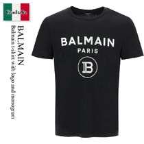 Balmain t-shirt with logo and monogram