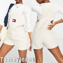 【Tommy Jeans】ダンガリーショートパンツ ロゴ サロペット