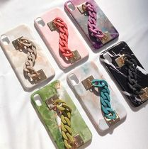 【Jaldoencase】matt chain phone case スマホ ケース