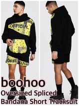 boohoo Oversized Spliced Bandana Short Tracksuit