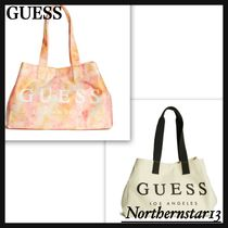 【GUESS】Canvas Beach Tote/トートバッグ★各色