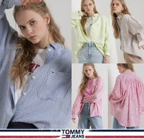 TOMMY JEANS★正規品★Oversize Striped 長袖シャツ/安心追跡付