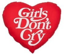 Girls Don't Cry★Logo Pillow Red クッション 枕