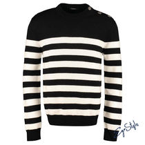 STRIPED WOOL PULLOVER