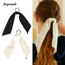 depound 21S/S dot scarf scrunchie /ヘアゴム [追跡送料込]