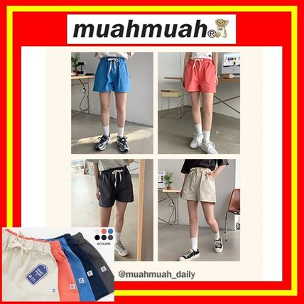 [MUAHMUAH] Cotton Wappen Shorts Banding Pants/6色/追跡付