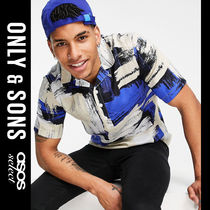 SALE【Only & Sons】半袖 プリント シャツ ブルー / 送料無料