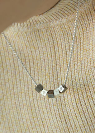 ★ SCALETTO  SCB011 Black detail cube necklace ★