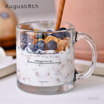 August8th And グラスマグ 380ml/韓国 おうちカフェ[追跡送料込]