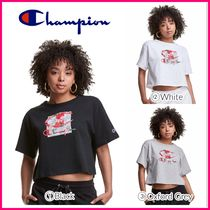 NEW ★CHAMPION★ Heritage Cropped Tee, Hyper-Realistic Roses