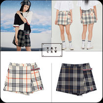 [ROMANTIC CROWN]★韓国大人気★CHECK WRAP SKIRT PANTS