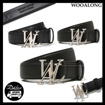 WOOALONG(ウアロン) ベルト WOOALONG Signature logo leather belt NE3444 追跡付