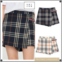 日本未入荷ROMANTIC CROWNのCHECK WRAP SKIRT PANTS 全2色