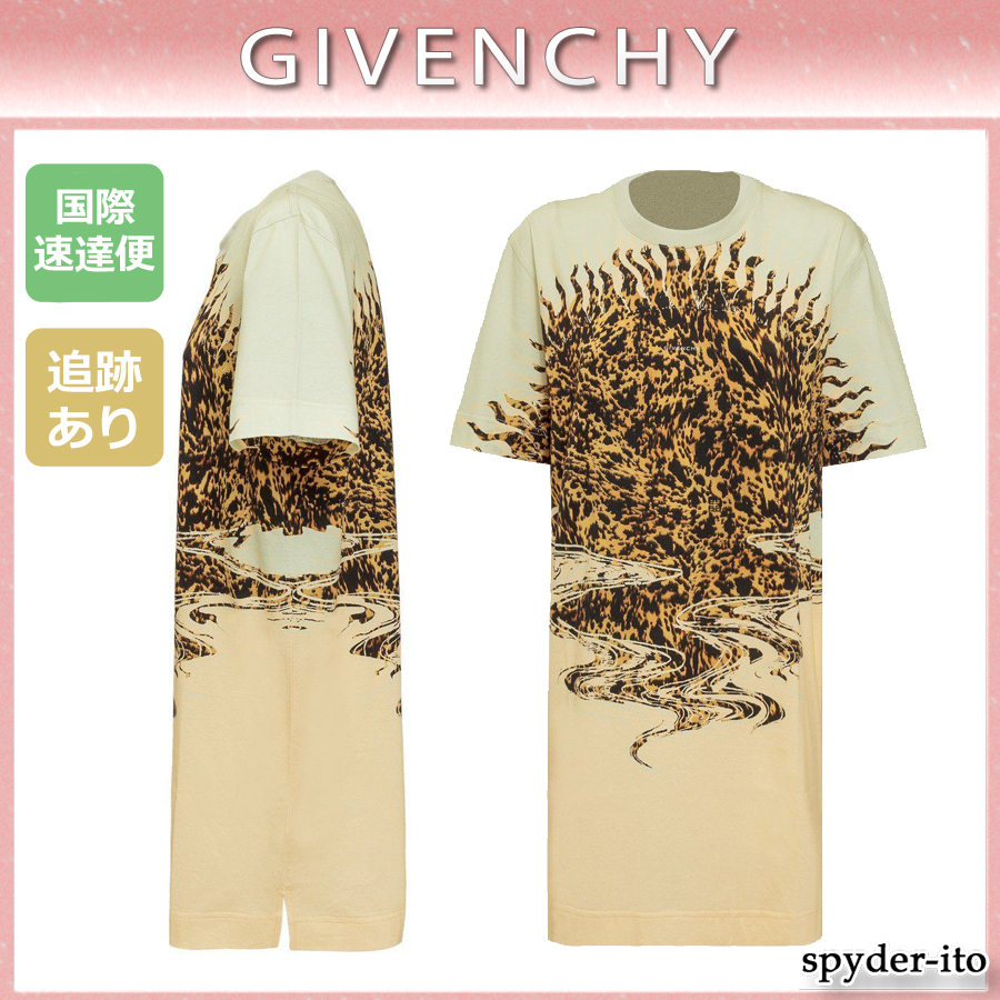 21SS☆送料込【GIVENCHY】プリント コットン 半袖 Tシャツ (GIVENCHY/Tシャツ・カットソー) 67862602