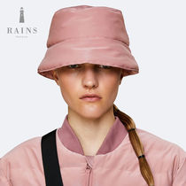 Rains Padded Bucket Hat ブラック/ピンク