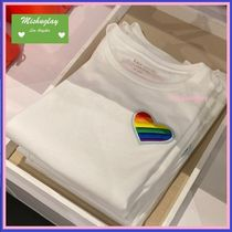 【kate spade】レインボーハート♪rainbow heart patch tee★