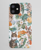 *Society6* Cat and floral pattern iPhone ケース
