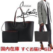 【CHRISTIAN LOUBOUTIN】Cabata bag in leather with spikes