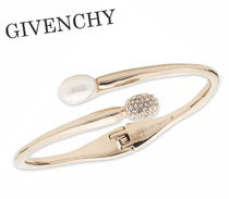 GIVENCHY★Crystal & Pearl Bypass Cuff Bracelet (追跡付き)