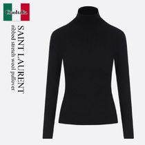 Saint Laurent ribbed stretch wool pullover