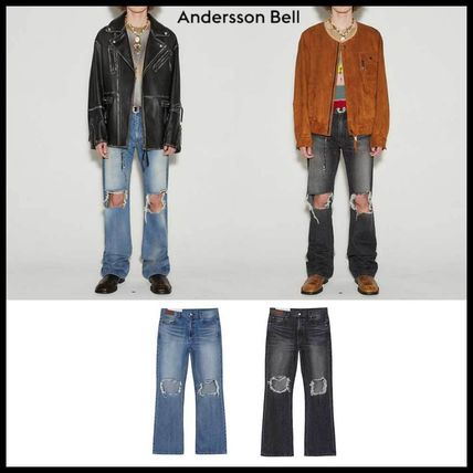 BTS着用 ●ANDERSSON BELL● DESTROYED BOOTS CUT JEANS 人気